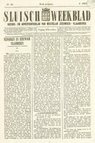 Sluisch Weekblad. Nieuws- en advertentieblad voor Westelijk Zeeuwsch-Vlaanderen 1865-11-03