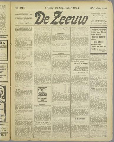 De Zeeuw. Christelijk-historisch nieuwsblad voor Zeeland 1924-09-26
