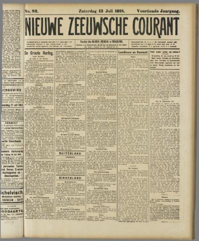 Nieuwe Zeeuwsche Courant 1918-07-13