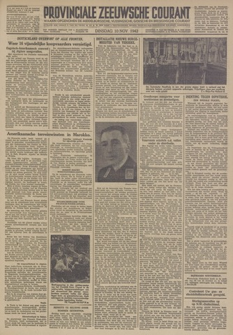 Provinciale Zeeuwse Courant 1942-11-10