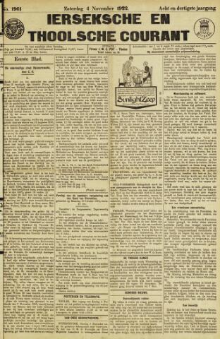 Ierseksche en Thoolsche Courant 1922-11-04