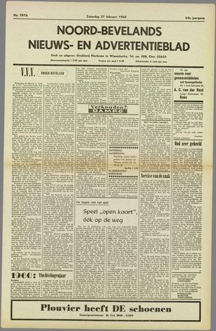 Noord-Bevelands Nieuws- en advertentieblad 1960-02-27