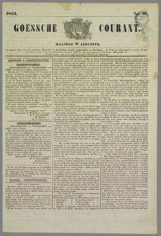 Goessche Courant 1853-08-08
