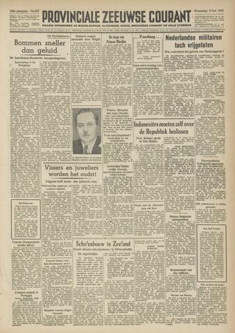 Provinciale Zeeuwse Courant 1947-10-08