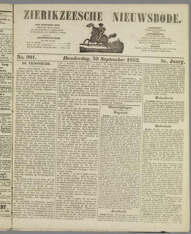 Zierikzeesche Nieuwsbode 1852-09-30