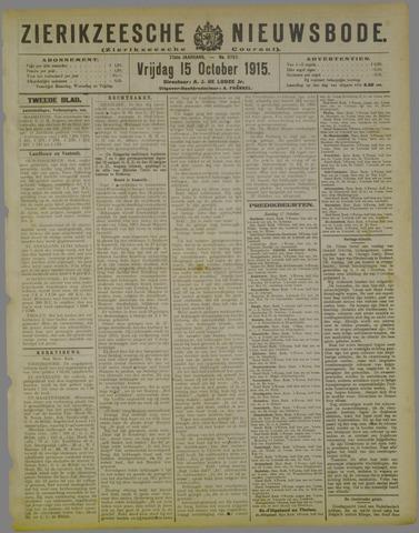 Zierikzeesche Nieuwsbode 1915-10-15