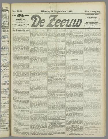 De Zeeuw. Christelijk-historisch nieuwsblad voor Zeeland 1918-09-03