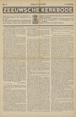 Zeeuwsche kerkbode, weekblad gewijd aan de belangen der gereformeerde kerken/ Zeeuwsch kerkblad 1945-07-13