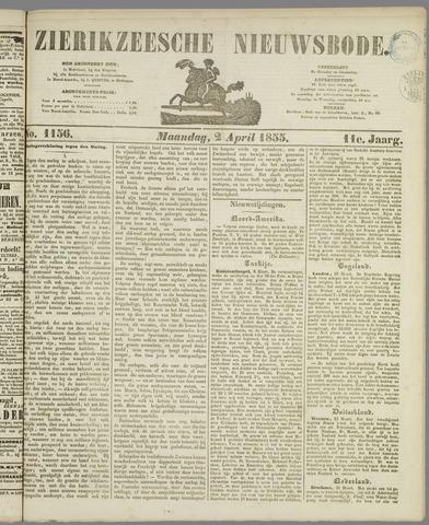 Zierikzeesche Nieuwsbode 1855-04-02