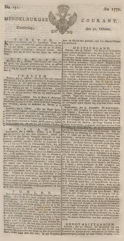 Middelburgsche Courant 1771-10-31