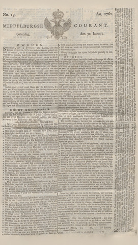 Middelburgsche Courant 1762-01-30