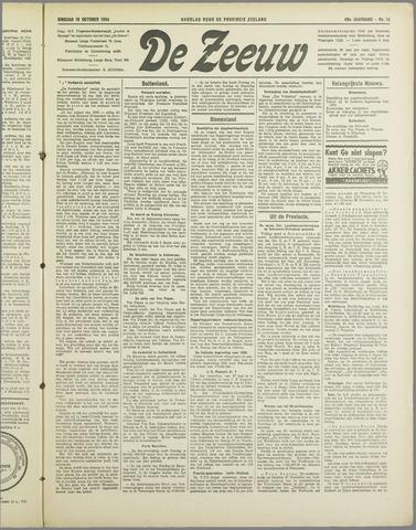 De Zeeuw. Christelijk-historisch nieuwsblad voor Zeeland 1934-10-16