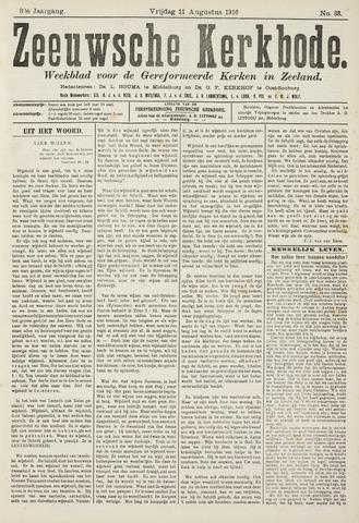 Zeeuwsche kerkbode, weekblad gewijd aan de belangen der gereformeerde kerken/ Zeeuwsch kerkblad 1916-08-11