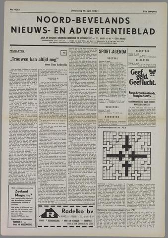 Noord-Bevelands Nieuws- en advertentieblad 1982-04-15