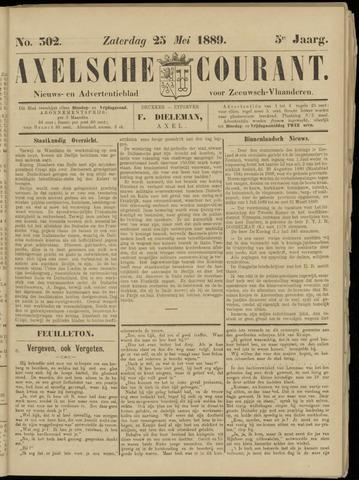 Axelsche Courant 1889-05-25