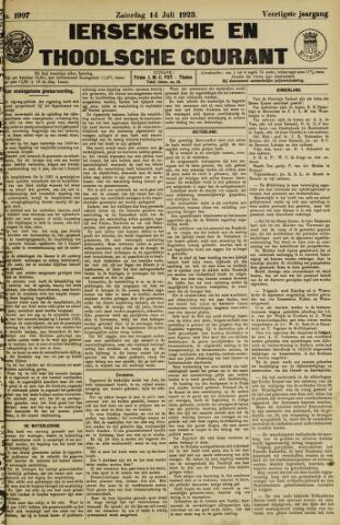 Ierseksche en Thoolsche Courant 1923-07-14