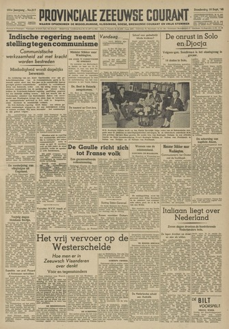 Provinciale Zeeuwse Courant 1948-09-16