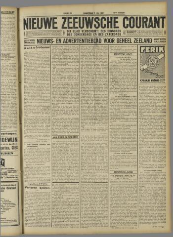 Nieuwe Zeeuwsche Courant 1927-07-07