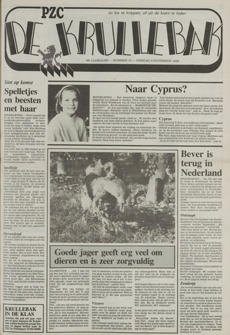 Provinciale Zeeuwse Courant katern Krullenbak (1981-1999) 1988-11-08