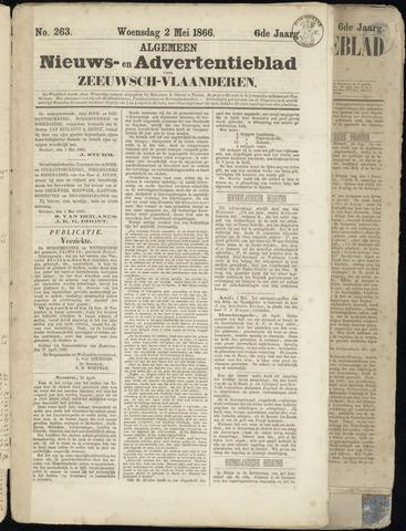 Ter Neuzensche Courant. Algemeen Nieuws- en Advertentieblad voor Zeeuwsch-Vlaanderen / Neuzensche Courant ... (idem) / (Algemeen) nieuws en advertentieblad voor Zeeuwsch-Vlaanderen 1866-05-02