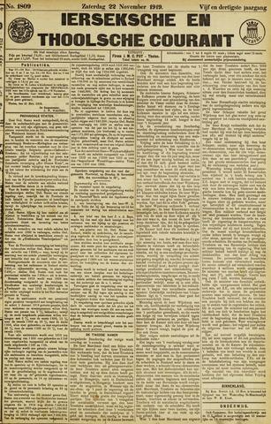 Ierseksche en Thoolsche Courant 1919-11-22