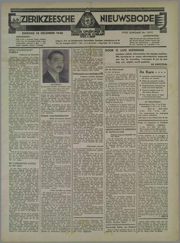Zierikzeesche Nieuwsbode 1940-12-10