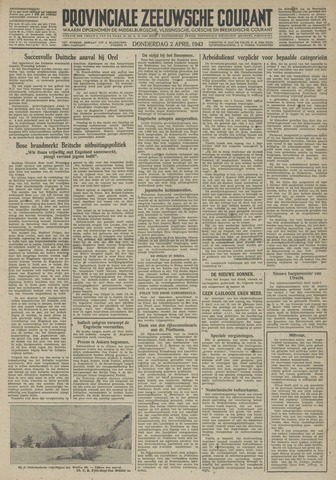 Provinciale Zeeuwse Courant 1942-04-02