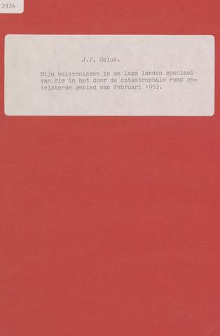Watersnood documentatie 1953 - diversen 1952