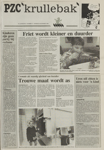 Provinciale Zeeuwse Courant katern Krullenbak (1981-1999) 1994-11-08