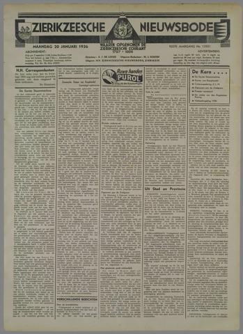 Zierikzeesche Nieuwsbode 1936-01-20