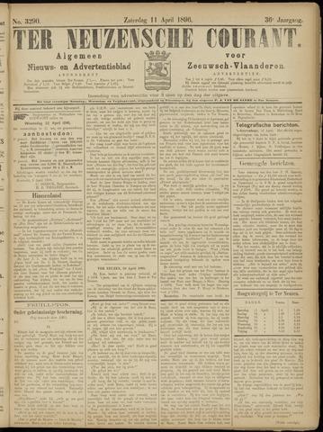 Ter Neuzensche Courant. Algemeen Nieuws- en Advertentieblad voor Zeeuwsch-Vlaanderen / Neuzensche Courant ... (idem) / (Algemeen) nieuws en advertentieblad voor Zeeuwsch-Vlaanderen 1896-04-11