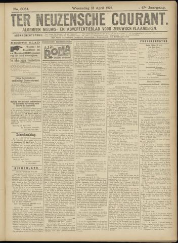 Ter Neuzensche Courant. Algemeen Nieuws- en Advertentieblad voor Zeeuwsch-Vlaanderen / Neuzensche Courant ... (idem) / (Algemeen) nieuws en advertentieblad voor Zeeuwsch-Vlaanderen 1927-04-13