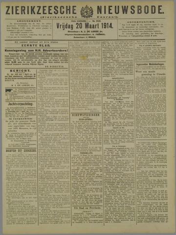 Zierikzeesche Nieuwsbode 1914-03-20
