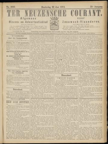 Ter Neuzensche Courant. Algemeen Nieuws- en Advertentieblad voor Zeeuwsch-Vlaanderen / Neuzensche Courant ... (idem) / (Algemeen) nieuws en advertentieblad voor Zeeuwsch-Vlaanderen 1911-06-29