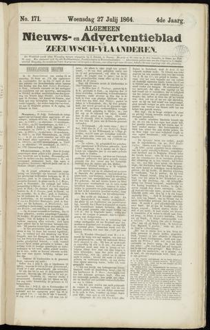 Ter Neuzensche Courant. Algemeen Nieuws- en Advertentieblad voor Zeeuwsch-Vlaanderen / Neuzensche Courant ... (idem) / (Algemeen) nieuws en advertentieblad voor Zeeuwsch-Vlaanderen 1864-07-27