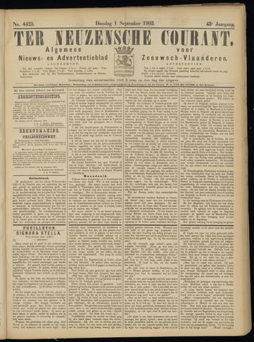 Ter Neuzensche Courant. Algemeen Nieuws- en Advertentieblad voor Zeeuwsch-Vlaanderen / Neuzensche Courant ... (idem) / (Algemeen) nieuws en advertentieblad voor Zeeuwsch-Vlaanderen 1903-09-01