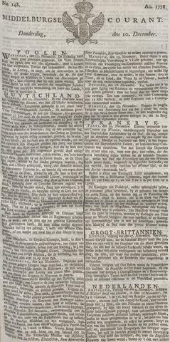 Middelburgsche Courant 1778-12-10