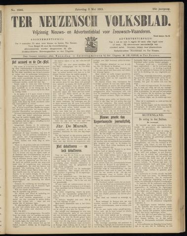 Ter Neuzensch Volksblad. Vrijzinnig nieuws- en advertentieblad voor Zeeuwsch- Vlaanderen / Zeeuwsch Nieuwsblad. Nieuws- en advertentieblad voor Zeeland 1913-05-03