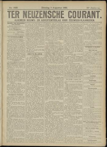 Ter Neuzensche Courant. Algemeen Nieuws- en Advertentieblad voor Zeeuwsch-Vlaanderen / Neuzensche Courant ... (idem) / (Algemeen) nieuws en advertentieblad voor Zeeuwsch-Vlaanderen 1920-08-03