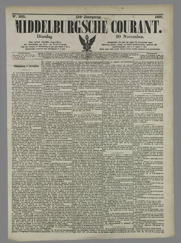 Middelburgsche Courant 1891-11-10