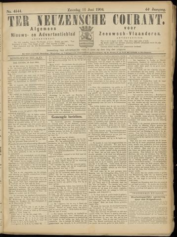 Ter Neuzensche Courant. Algemeen Nieuws- en Advertentieblad voor Zeeuwsch-Vlaanderen / Neuzensche Courant ... (idem) / (Algemeen) nieuws en advertentieblad voor Zeeuwsch-Vlaanderen 1904-06-11