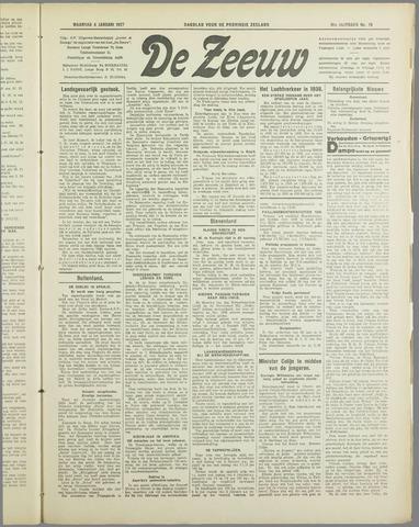 De Zeeuw. Christelijk-historisch nieuwsblad voor Zeeland 1937-01-04