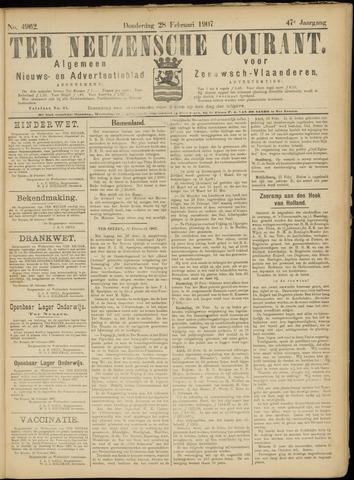 Ter Neuzensche Courant. Algemeen Nieuws- en Advertentieblad voor Zeeuwsch-Vlaanderen / Neuzensche Courant ... (idem) / (Algemeen) nieuws en advertentieblad voor Zeeuwsch-Vlaanderen 1907-02-28