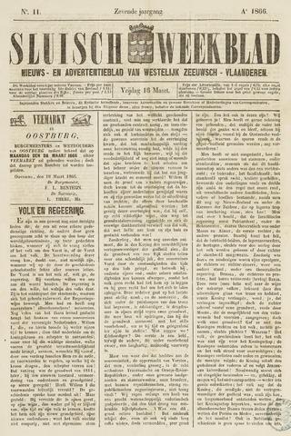 Sluisch Weekblad. Nieuws- en advertentieblad voor Westelijk Zeeuwsch-Vlaanderen 1866-03-16