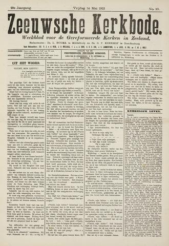 Zeeuwsche kerkbode, weekblad gewijd aan de belangen der gereformeerde kerken/ Zeeuwsch kerkblad 1915-05-14