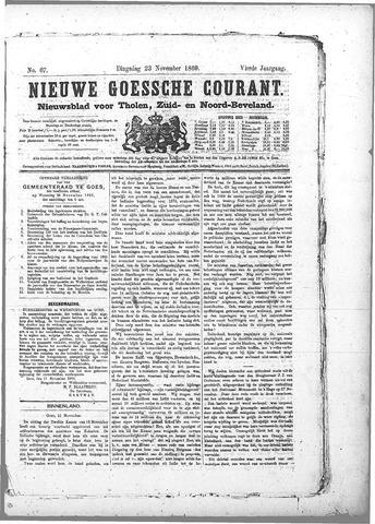 Nieuwe Goessche Courant 1869-11-23