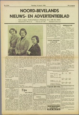 Noord-Bevelands Nieuws- en advertentieblad 1956-01-14