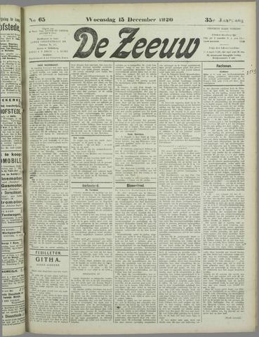 De Zeeuw. Christelijk-historisch nieuwsblad voor Zeeland 1920-12-15