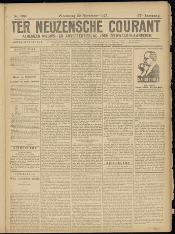 Ter Neuzensche Courant. Algemeen Nieuws- en Advertentieblad voor Zeeuwsch-Vlaanderen / Neuzensche Courant ... (idem) / (Algemeen) nieuws en advertentieblad voor Zeeuwsch-Vlaanderen 1927-11-30