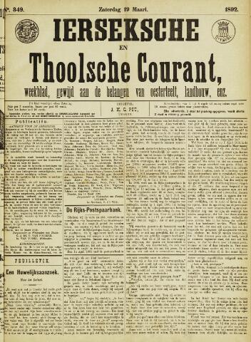 Ierseksche en Thoolsche Courant 1892-03-19